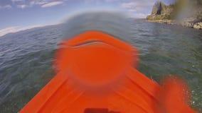 Kayak POV Adventure, Wet Lens stock video