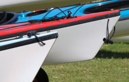 Kayak prows Stock Photos