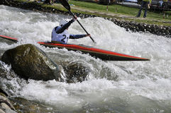 Kayak on the rapids Royalty Free Stock Photography