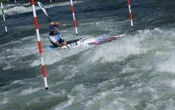 Kayak on the rapids - Gold medalist -  Dukatova Royalty Free Stock Image