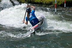 Kayak on the rapids - Royalty Free Stock Photos