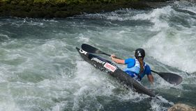 Kayak on the rapids Royalty Free Stock Image