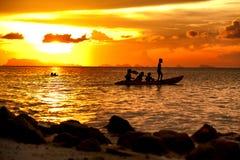 Kayak relax Stock Image