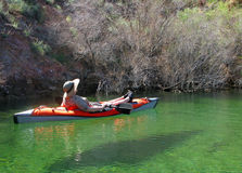 Kayak Relaxation Royalty Free Stock Photos