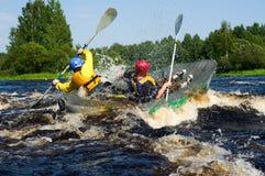 Kayak on river Royalty Free Stock Photo