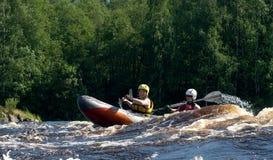 Kayak on river Stock Photo