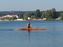 Kayak. On the river Stock Photography