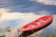 Kayak in the river Stock Image