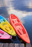 Kayak in the river Stock Photography