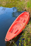 Kayak in the river Royalty Free Stock Image