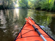 Kayak river sun Stock Photo