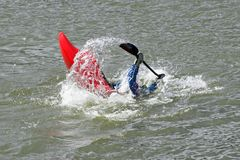 Kayak roll 2 Stock Images