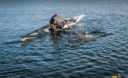 Kayak rolling technique 10 Stock Photos