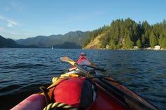 Kayak rouge photos libres de droits