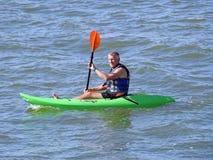 Kayak rower Stock Image