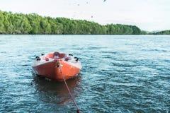A kayak on the sea. stock photos