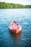 A kayak on the sea. stock photography