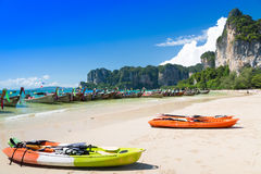 Kayak at sea Stock Photography