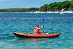 Kayak on the sea Stock Photos