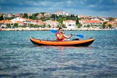 Kayak on the sea Stock Image