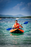 Kayak on the sea Stock Photo