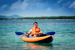 Kayak on the sea Royalty Free Stock Images