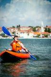 Kayak on the sea Royalty Free Stock Photo