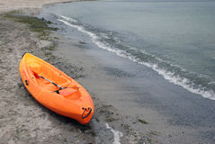 Kayak on seaside Royalty Free Stock Photo
