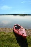 Kayak on the Shore Royalty Free Stock Image