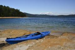 Kayak on the shore Stock Photo