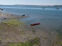 Kayak on shore Royalty Free Stock Image