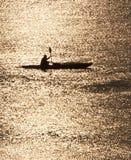 Kayak Silhouette Royalty Free Stock Photo
