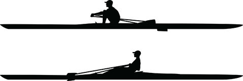 Kayak silhouette vector Stock Images