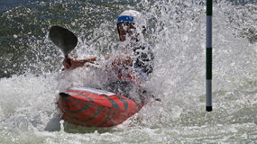 Kayak slalom competition Royalty Free Stock Photos