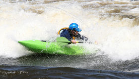 Kayak Spinning Around Stock Image