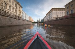 Kayak a St Petersburg Immagini Stock Libere da Diritti