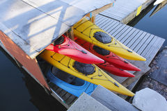 Kayak Storage Royalty Free Stock Photo