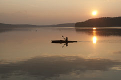 Kayak in the sunset Royalty Free Stock Photography