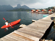 Kayak at Surat thani , thailand Royalty Free Stock Photography