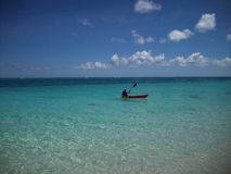 Kayak. In surf off Turks and Caicos Royalty Free Stock Photos