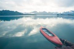 Kayak in Thailand. Kayak at Khao Sok, Thailand stock photos