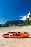 Kayak in thailand. Kayak at sea beach thailand Royalty Free Stock Photo