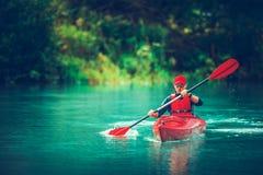 Kayak Tour on the Lake royalty free stock photo