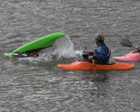 Kayak training Royalty Free Stock Photos