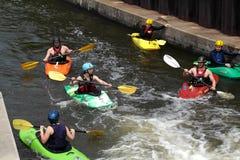 Kayak training group Royalty Free Stock Image