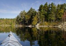 Kayak on Tranquil Lake Royalty Free Stock Images