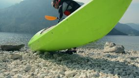 Summer kayak trip. stock video footage