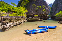 Kayak trip to the island on Phang Nga Bay. Thailand Stock Images
