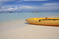 Kayak at the tropical beach Stock Photography