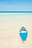 Kayak at the tropical beach Royalty Free Stock Photography